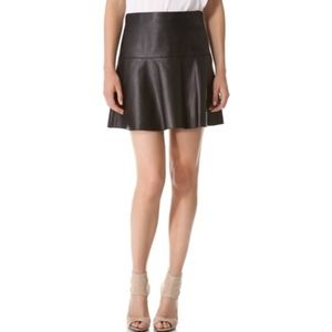 NWT VINCE leather skirt, size 8